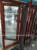Guichet en aluminium d'interruption thermique de bonne qualité de Woodwin avec l'écran de moustique
