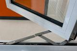 Como2047 Doble Acristalamiento, armazón de aluminio Casement Ventana de cristal con mosquitero
