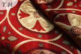 Tecido jacquard de Chenille de flores para sofá ou cortina