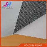 Maille à sens unique claire amovible de visibilité de film adhésif de tissu