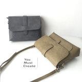 Borsa di cuoio dell'unità di elaborazione delle donne della borsa di stile di svago del sacchetto semplice di Crossbody