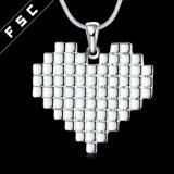 Halsband van de Tegenhanger van de Vorm van het Hart van het Ontwerp van de Juwelen van de manier de Eenvoudige