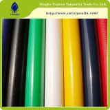 녹색 PVC에 의하여 입힌 직물 방수포 PVC 물자가 600GSM에 의하여 100% 칼 에 구른다
