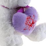 Urso do Valentim com o fornecedor do urso da peluche do luxuoso do coração do amor