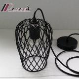 マットの食堂のための黒い鉄のネットの円形の吊り下げ式ライト