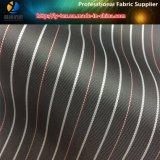 Покрашенная пряжей ткань тканья втулки полиэфира нашивки сплетенная подкладкой (S17.37)