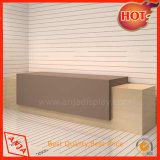 Muebles de madera Checkout Desk para almacenar