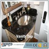 La Chine haut de la vanité de granit noir, le compteur en haut pour la salle de bains
