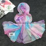Пляж шаль градиент Polka Dot напечатано леди мода шелковые шарфы