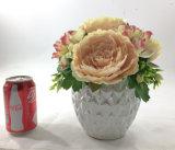 De roze Ceramische Ingemaakte Decoratie van Kunstbloemen