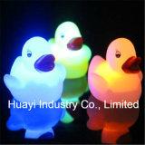 Kundenspezifischer Glühen-Gummi des Druck-Baby-Bad-LED duckt Spielzeug