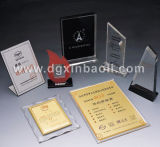 Award acrylique pour Tabletop Display Authorization Stand