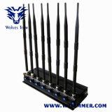 Ajustable de 8 bandas poderoso teléfono celular 3G WiFi GPS VHF UHF Lojack Jammer