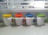 300ml caneca cerâmica com Coaster, caneca 300ml com tampa