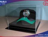 Visualización clara de acrílico de la caja del sombrero de béisbol, rectángulo de los deportes