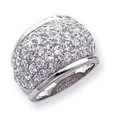 Sterlingsilber CZ-Cocktail-Ring CJRP1029