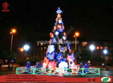 ضخمة [لد] [كريستس] شجرة لأنّ ساحة زخرفة ضوء