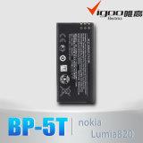 Nokia Lumia 820のための電池3.7V 1650mAh BP-5Tのリチウム電池