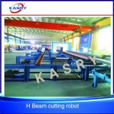 쉬운 운영 H 단면도 광속 강철 Truss 구조 CNC 플라스마 및 프레임 절단 극복 경사지는 표하기 생산 라인