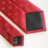 Legami rossi tessuti di seta all'ingrosso del Mens di abitudine 100% (L017)