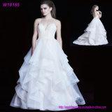 Erwachsenes System-deckt weißer Schönheits-Frauen-Organza reizvolles Braut-Kostüm-Ballkleid-Hochzeits-Kleid ab