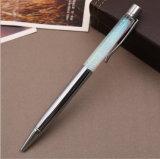 La scrittura della ricarica del nero blu del materiale 1.0mm del metallo adatta uniformemente la penna del Quicksand della polvere di scintillio del regalo di promozione