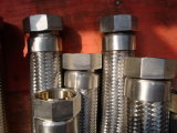 Boyau tressé flexible d'acier inoxydable double de bonne qualité