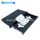 Los núcleos 12/24/Patch Panel de fibra óptica de montaje en rack 1U/ /Chapa metálica tipo cajón