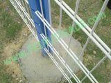 Feux de l'acier galvanisé à chaud avec enduit de PVC usine double clôture métallique