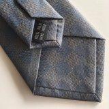 Corbata de seda por encargo tejida con la insignia (L051)