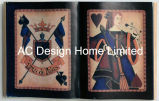 Art. van de Muur van de Vorm van het Boek van de pook Pu Leather/MDF het Houten