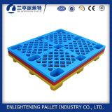 Paletes de plástico de HDPE de peso leve com nove pernas 1100LX1100 W X 140h mm