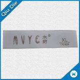 Niedriger MOQ gesponnener Kleidungs-Kennsatz-Fläche-weiches Oberflächenenden-faltender Kleid-Gewebe gesponnener Kennsatz
