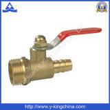 Latón económica válvula de gas para el tubo de la manguera (YD-1034)