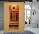 Cabina para dos personas de la sauna del sitio de la sauna del infrarrojo lejano