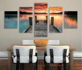 HD imprimió la lona Mc-087 del cuadro del cartel de la impresión de la decoración del taller de impresión de la lona de pintura del cielo de la puesta del sol del lago