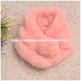 Sciarpa Hand Knitted variopinta della sfera della pelliccia del coniglio di nuovo modo 2017