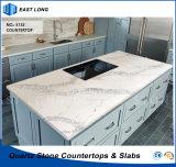 Controsoffitto caldo della cucina della pietra del quarzo di vendita per materiale da costruzione con lo SGS & il certificato del Ce (colori di marmo)