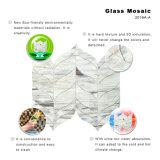 Azulejo de mosaico de cristal cuadrado gris del estilo americano para la cocina Backsplash