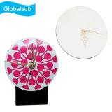 Orologio di legno in bianco del MDF di Globalsub con la vostra figura rotonda di stampa di immagine