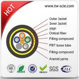 Todo el cable óptico de la fibra aérea doble dieléctrica de la chaqueta ADSS