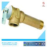 Válvula de descarga de cobre amarillo de la temperatura y de presión del cuerpo para el calentador de agua solar BCTPV01