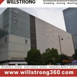 Les façades des bâtiments commerciaux panneau alvéolaire en aluminium