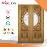 最上質の材木の外部ドアか木別荘の贅沢なドア