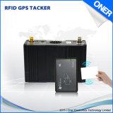 Rastreamento por GPS do veículo com RFID identificar e identificação de impressões digitais