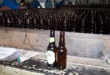 Bouteille de bière ambrée