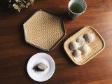 Hexagonale Plaat van uitstekende kwaliteit van de Stijl van de Melamine de Houten voor Diner
