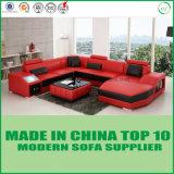 Sofa européen de salle de séjour de mode de cuir véritable de vente chaude