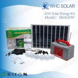 Whc 20W Gleichstrom-Beleuchtung-Sonnenenergie-Installationssatz