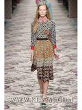 Платье лета 2016 самое новое женщин печатание цветка способа